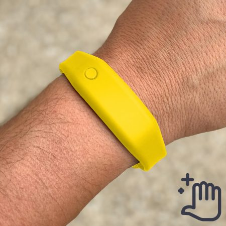 Hand Sanitizer Bracelet Men Lifestyle Sunny Yellow
