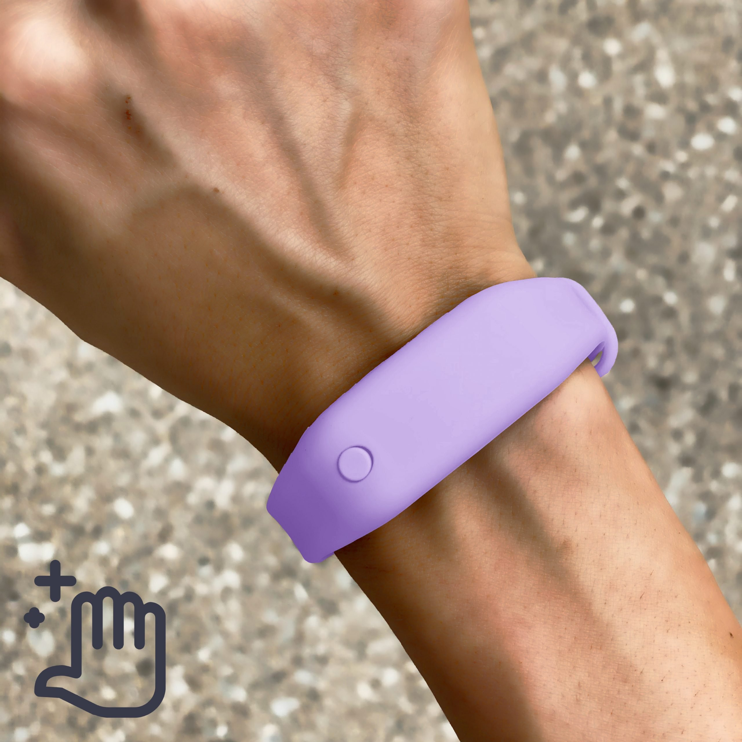 Hand Sanitizer Bracelet Women Lifestyle Lily Lavender