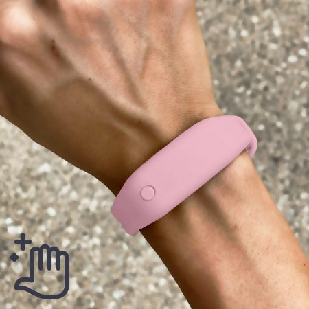 Hand Sanitizer Bracelet Women Lifestyle Rose Petal Pink