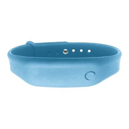 hand sanitizer bracelet - antibacterial wrist band denim blue