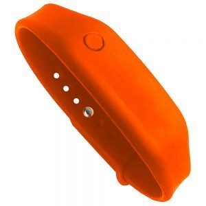 hand sanitizer bracelet - antibacterial wrist band lucky orange